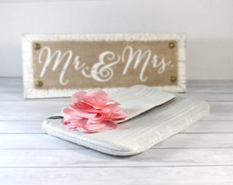 Mother of the Bride Photo Clutch Personalized Photo Clutch Mother of Groom Picture Clutch Wedding Gift for Mom- White Photo Purse
