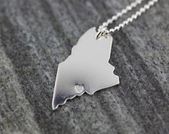 State Of Maine Pendant Handmade