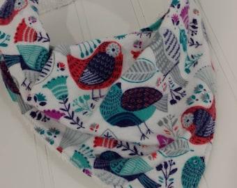 Bandanna Baby Bib - Birds & Flowers