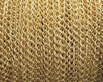 50FT (15mt) Gold Filled chain, wholesale curb chain 2.1mm, gold chain curb by foot by meter, gold fill chain cable curb bulk , 30%Off