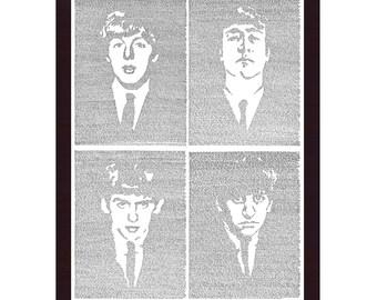 All 4 Beatles ONE PRINT