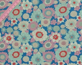 "Tilda Boogie Flower Blue Fabric / ""Lemon Tree"" Quilt Collection - Full Metre / 1.09 yard"