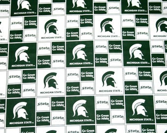 Michigan State University Fabric, College Fabrics, NCAA Fabrics, Spartans 1 Yard Continuous Piece, Sykel #MIST020