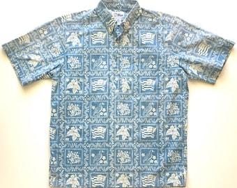 REYN SPOONER Classic Hawaiian Popover. Sz M.