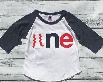 Baseball Birthday// One//First Birthday/Boy//Shirt//Photo Prop//Birthday Shirt//Ready To Ship//NEW DESIGN