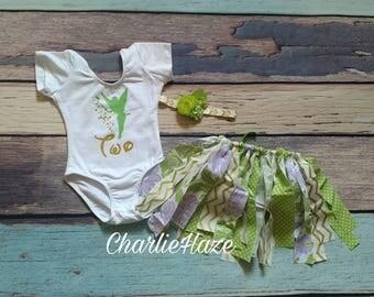 Tinkerbell inspired Birthday Onesie, Lime Green, Birthday,