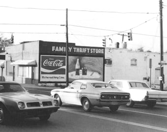 NoDa Family Thrift Store - now The Blind Pig bar,  8 1/2 X 11 Original Black & White Photography Print