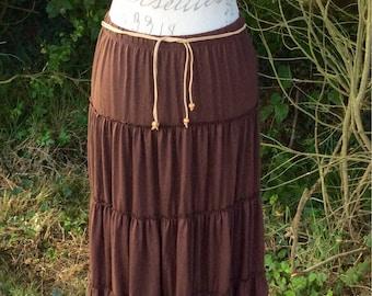 Gorgeous brown Bohemian style maxi skirt