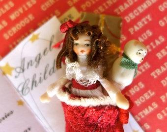 Dollhouse Miniature Christmas Stocking Ethel Hicks