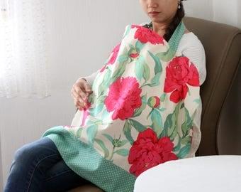 Nursing Cover, Breastfeeding Cover - Peonies