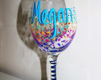 Wine Glasses Personalized, Custom Wine Glasses, Gift for her