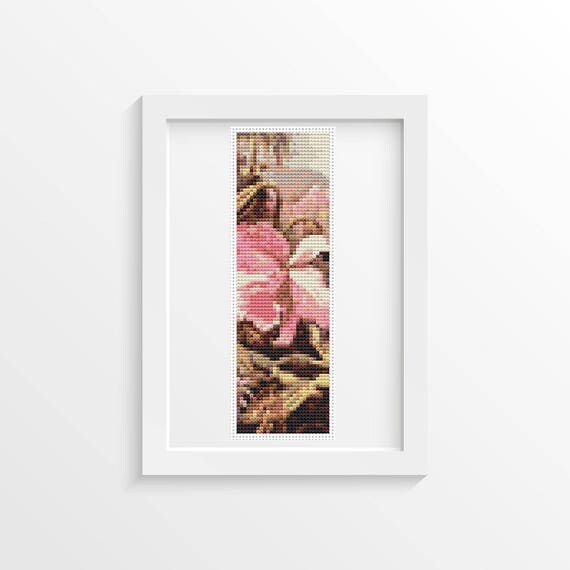 Orchids And Passion Flowers Bookmark Cross Stitch Kit