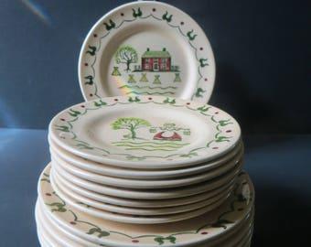 Poppytrail Metlox Homestead Provincial 7 Bread Butter Plates 8 Salad Plates
