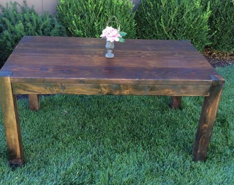Aged Parsons Table (can be made for indoors or outdoors)