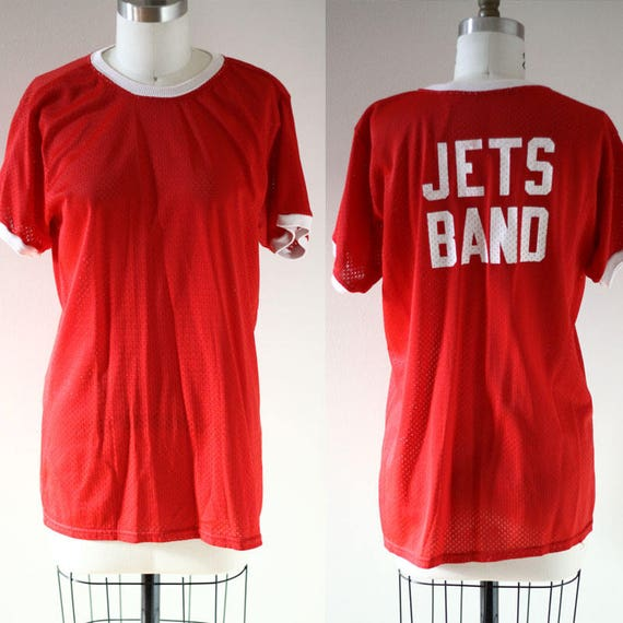 1970s mesh Jets Band tee // 1970s mesh t-shirt // vintage t-shirt