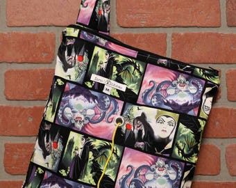 Medium Knitting Bag, Crochet, Knit, Yarn, Wool, Disney Villains, Yarn Storage, Yarn Bag with Hole, Grommet, Handle, MYB8