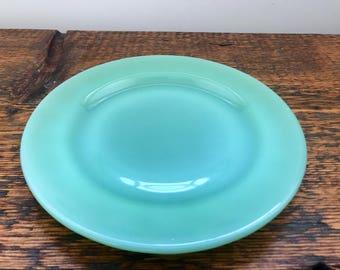 Vintage Jadeite Fire King Restaurant Ware Bread and Butter Plate / Jadeite Plate / Anchor Hocking