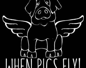 IBERICO  - When Pigs Fly Decal