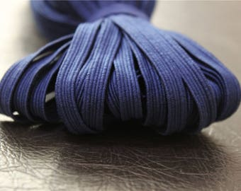 elastic Ribbon 5 meters flat Navy Blue dark