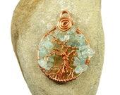 Tree life copper pendant,...
