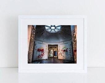 Mental Hospital Lobby - Urban Exploration - Fine Art Photography Print