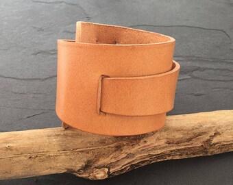 Leather Wrap around Cuff Bracelet