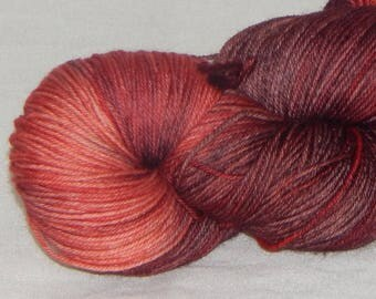 I See Fire on Mad Sock 75/25 SW merino and nylon sock yarn
