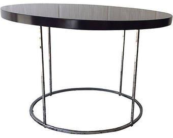 Baughman-Style Flatbar Chrome Table