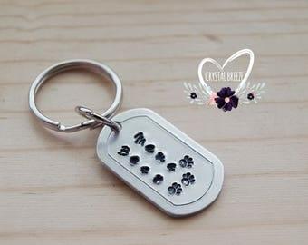 Women's Handmade Mama Bear Personalized Hand Stamp Keychain | Mama Bear | Mama Bear Keychain | Gift For Mom | Bear Keychain | Gift