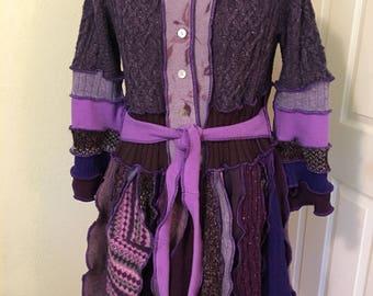 Upcycled Sweater Coat Elfin Fairy Coat