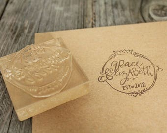 """Custom Logo Stamp ( 3"""" x 2"""" )  - Personalized Rubber Stamp"""
