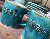 Rosary Mug in Rusty Aqua