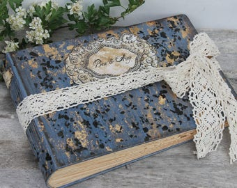 Rustic wedding guest book, traditional wedding photo album, hand bound scrapbook -  Made To Order A4 8.5x11''