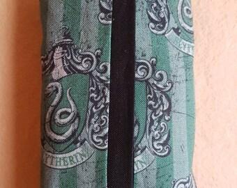 Harry Potter Slytherin inspired travel tissue holder