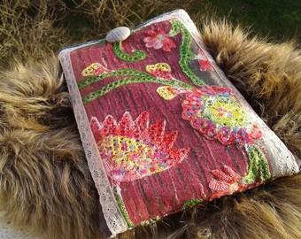 Pocket Book or tablet range large format floral with glitter