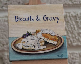 Biscuits & Gravy Mini Painting