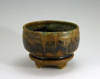 Matcha Tea Bowl, serving bowl, Mocha Brown hand-thrown stoneware bowl