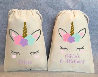 "40- Unicorn Party, Unicorn Birthday, unicorn party favors, Unicorn bags, Unicorn favor bags, Unicorn party favor bags, Unicorn bag, 4""x6"""