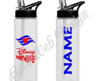 Disney Cruise Line Inspired Sport Water Bottle 16 oz, Fish Extender Gift