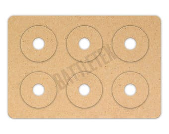 Wargaming Movement Trays with Bases - Landscape Bases with Magnet Holes 5 x 15mm - 30mm Bases - Terrain - Warhammer war gaming- By Battletex