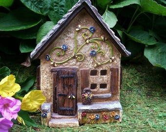 Pansy Place - Fairy House - Cottage - Fairy Garden - Miniature Gardening
