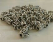 Bulk Lot Set Of 60 Small Silver Connector Bail Beads For Jewelry Making Craft Supply DIY Supplies Beading Findings Hardware Artisan Project