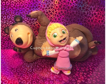 Marsha and the Bear Figurine / Cake Topper