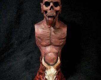 demon bust sculpture