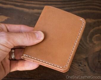 6 Pocket Horizontal wallet - tan