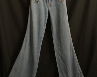 Vintage 1970's Daddy's Money High Waisted Blue Jean Bell Bottoms