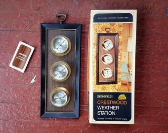 Vintage NOS Crestwood Weather Station for Wall