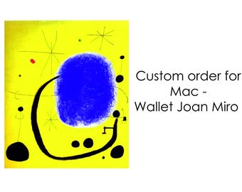 Custom order for Mac - Joan Miro wallet
