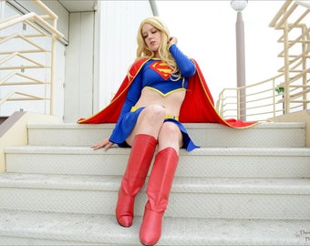 Two Piece Supergirl Costume