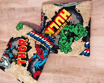 SUPER HERO BAGS • Reusable Snack Bags • Waterproof • Toy Bag • Travel • Boys • Party Favors • Kid • Back To School • Lunch • Bag • BizyBelle